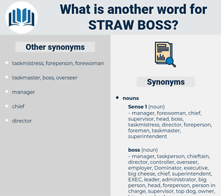 straw boss, synonym straw boss, another word for straw boss, words like straw boss, thesaurus straw boss