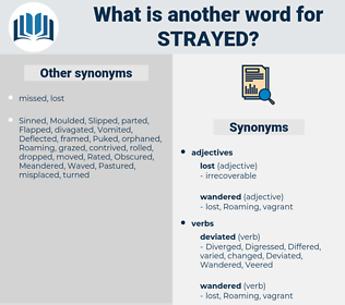 Strayed, synonym Strayed, another word for Strayed, words like Strayed, thesaurus Strayed