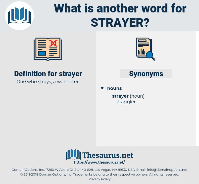 strayer, synonym strayer, another word for strayer, words like strayer, thesaurus strayer