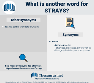strays, synonym strays, another word for strays, words like strays, thesaurus strays