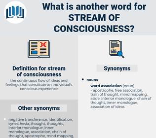 stream of consciousness, synonym stream of consciousness, another word for stream of consciousness, words like stream of consciousness, thesaurus stream of consciousness