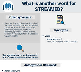 Streamed, synonym Streamed, another word for Streamed, words like Streamed, thesaurus Streamed