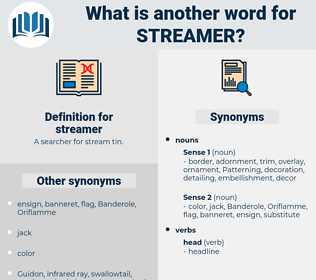streamer, synonym streamer, another word for streamer, words like streamer, thesaurus streamer