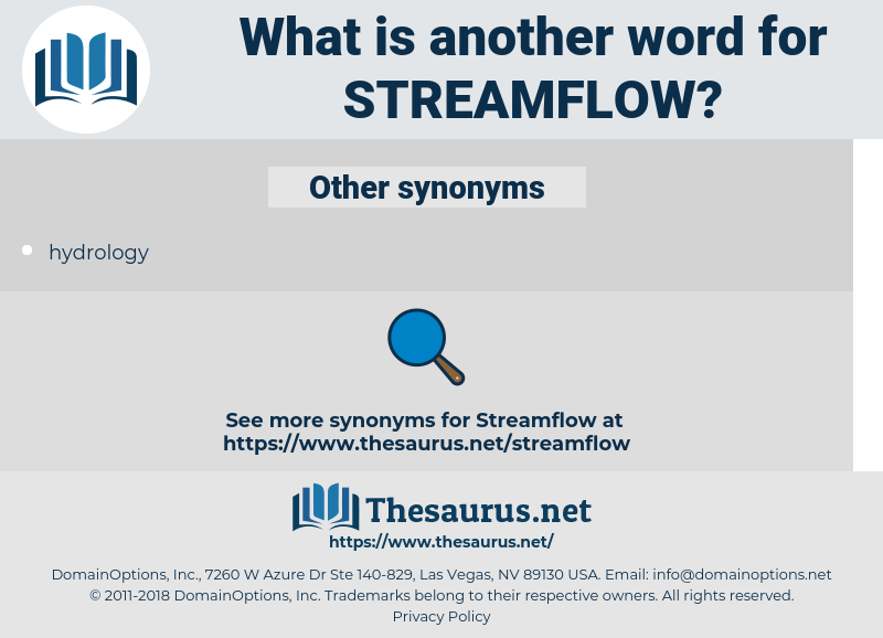 streamflow, synonym streamflow, another word for streamflow, words like streamflow, thesaurus streamflow
