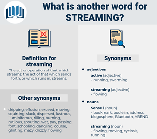 streaming, synonym streaming, another word for streaming, words like streaming, thesaurus streaming