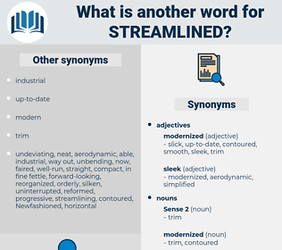 streamlined, synonym streamlined, another word for streamlined, words like streamlined, thesaurus streamlined