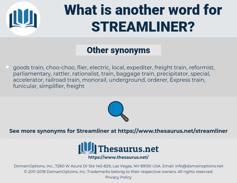 streamliner, synonym streamliner, another word for streamliner, words like streamliner, thesaurus streamliner