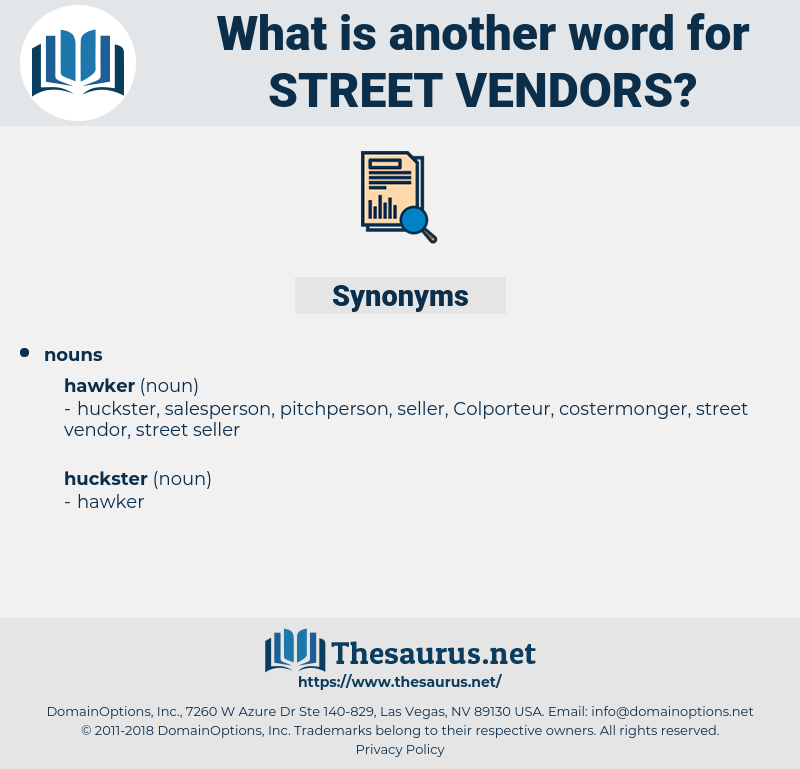 street vendors, synonym street vendors, another word for street vendors, words like street vendors, thesaurus street vendors