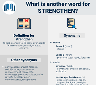 strengthen, synonym strengthen, another word for strengthen, words like strengthen, thesaurus strengthen