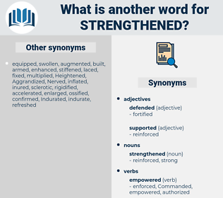 strengthened, synonym strengthened, another word for strengthened, words like strengthened, thesaurus strengthened