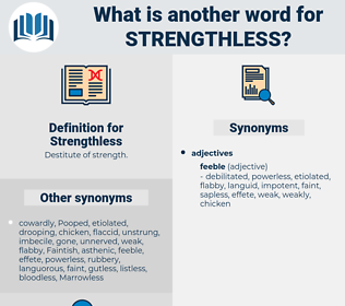 Strengthless, synonym Strengthless, another word for Strengthless, words like Strengthless, thesaurus Strengthless