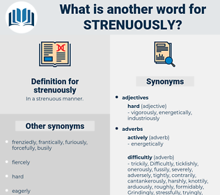 strenuously, synonym strenuously, another word for strenuously, words like strenuously, thesaurus strenuously