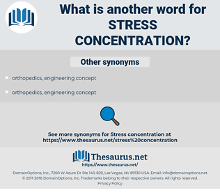 stress concentration, synonym stress concentration, another word for stress concentration, words like stress concentration, thesaurus stress concentration