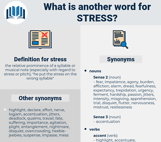 stress, synonym stress, another word for stress, words like stress, thesaurus stress