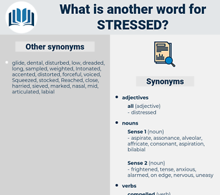 stressed, synonym stressed, another word for stressed, words like stressed, thesaurus stressed