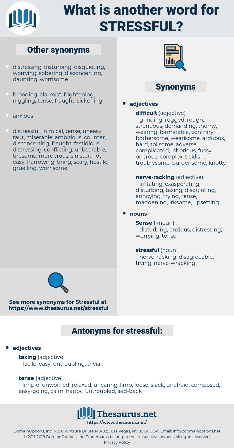 stressful, synonym stressful, another word for stressful, words like stressful, thesaurus stressful