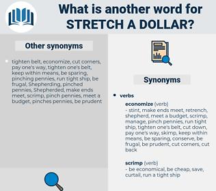stretch a dollar, synonym stretch a dollar, another word for stretch a dollar, words like stretch a dollar, thesaurus stretch a dollar