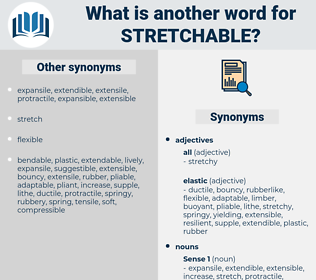 stretchable, synonym stretchable, another word for stretchable, words like stretchable, thesaurus stretchable