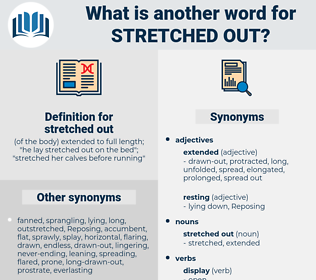 stretched out, synonym stretched out, another word for stretched out, words like stretched out, thesaurus stretched out