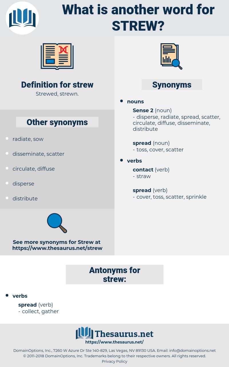 strew, synonym strew, another word for strew, words like strew, thesaurus strew
