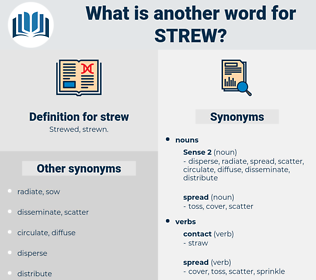 strew, synonym strew, another word for strew, words like strew, thesaurus strew