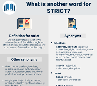 strict, synonym strict, another word for strict, words like strict, thesaurus strict