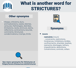strictures, synonym strictures, another word for strictures, words like strictures, thesaurus strictures