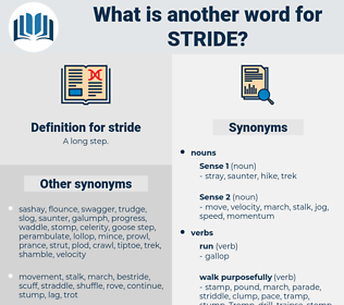 stride, synonym stride, another word for stride, words like stride, thesaurus stride