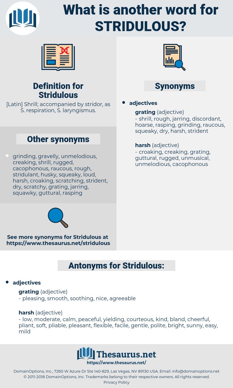 Stridulous, synonym Stridulous, another word for Stridulous, words like Stridulous, thesaurus Stridulous
