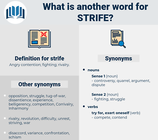 strife, synonym strife, another word for strife, words like strife, thesaurus strife