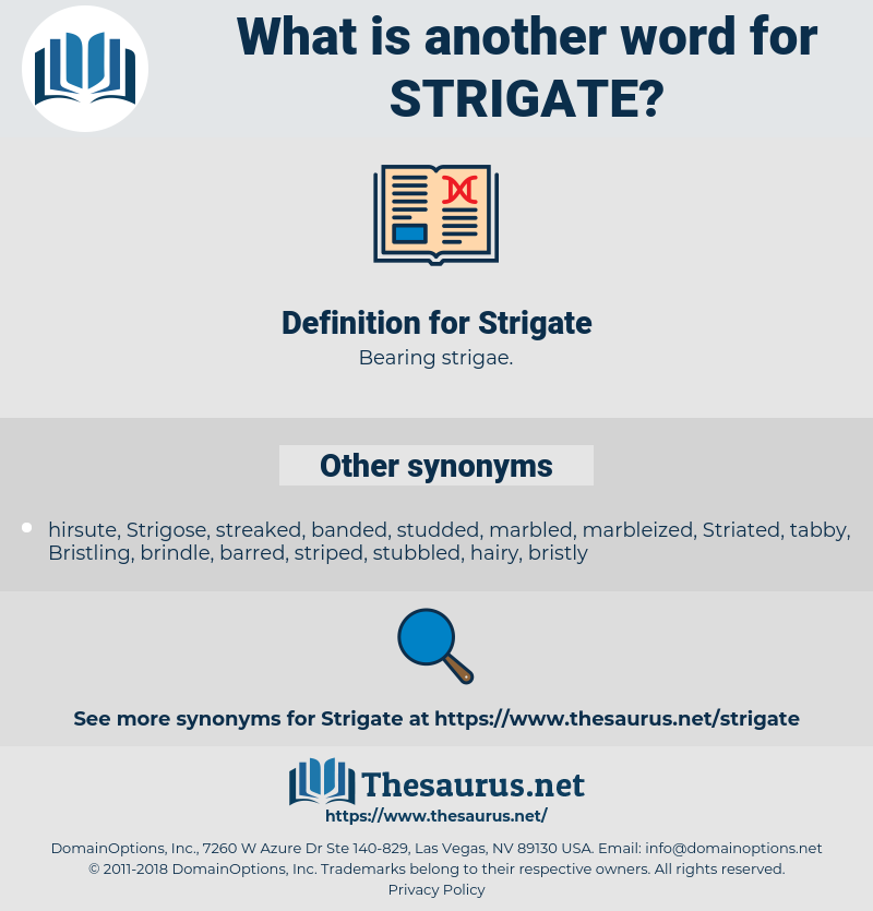 Strigate, synonym Strigate, another word for Strigate, words like Strigate, thesaurus Strigate