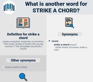 strike a chord, synonym strike a chord, another word for strike a chord, words like strike a chord, thesaurus strike a chord