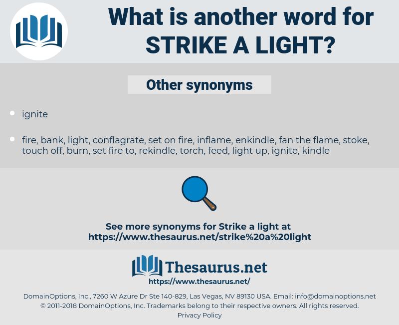strike a light, synonym strike a light, another word for strike a light, words like strike a light, thesaurus strike a light