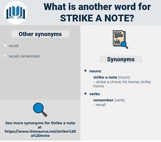 strike a note, synonym strike a note, another word for strike a note, words like strike a note, thesaurus strike a note
