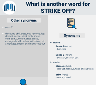 strike off, synonym strike off, another word for strike off, words like strike off, thesaurus strike off