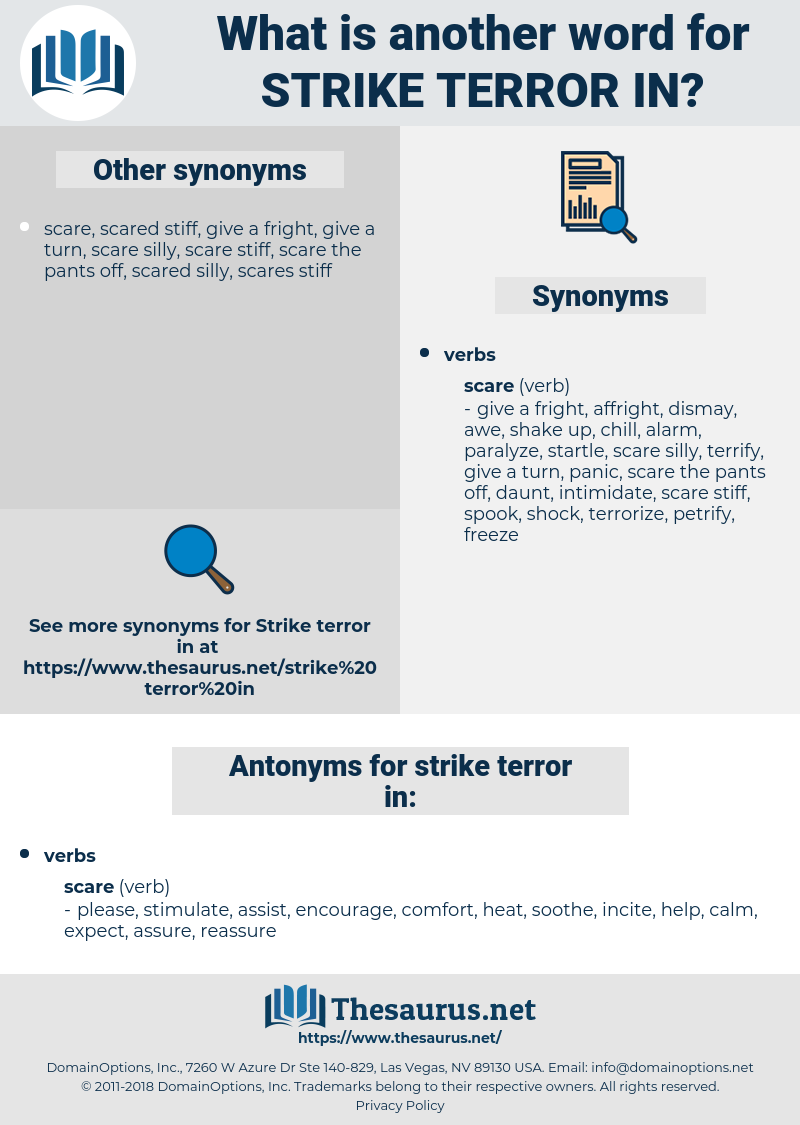 strike terror in, synonym strike terror in, another word for strike terror in, words like strike terror in, thesaurus strike terror in