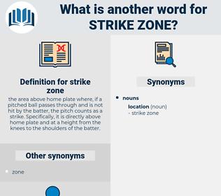 strike zone, synonym strike zone, another word for strike zone, words like strike zone, thesaurus strike zone