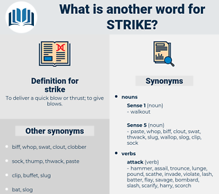 strike, synonym strike, another word for strike, words like strike, thesaurus strike