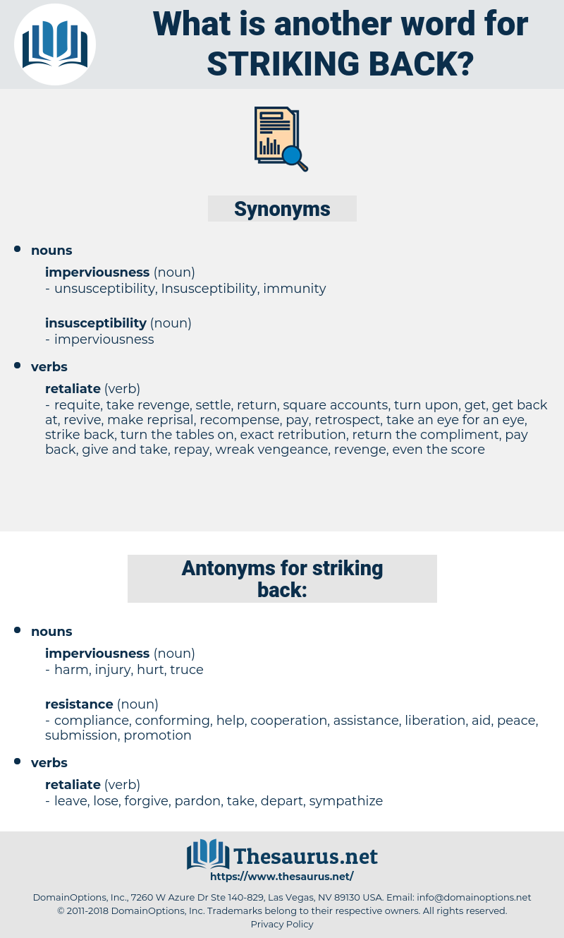 striking back, synonym striking back, another word for striking back, words like striking back, thesaurus striking back