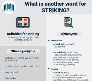 striking, synonym striking, another word for striking, words like striking, thesaurus striking