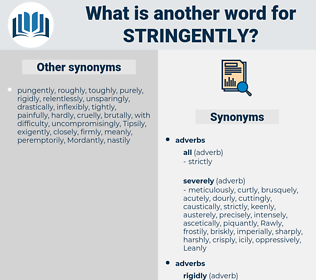 stringently, synonym stringently, another word for stringently, words like stringently, thesaurus stringently