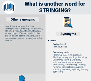 Stringing, synonym Stringing, another word for Stringing, words like Stringing, thesaurus Stringing