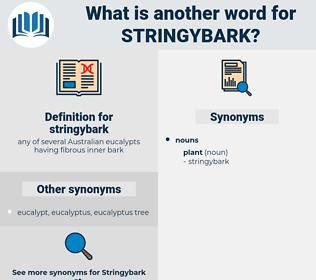 stringybark, synonym stringybark, another word for stringybark, words like stringybark, thesaurus stringybark