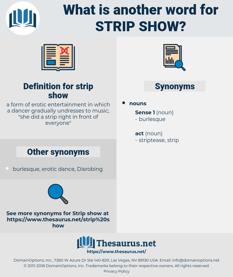 strip show, synonym strip show, another word for strip show, words like strip show, thesaurus strip show