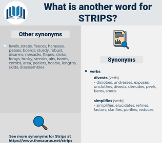 strips, synonym strips, another word for strips, words like strips, thesaurus strips