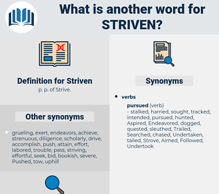 Striven, synonym Striven, another word for Striven, words like Striven, thesaurus Striven