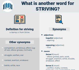 striving, synonym striving, another word for striving, words like striving, thesaurus striving