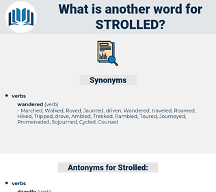 Strolled, synonym Strolled, another word for Strolled, words like Strolled, thesaurus Strolled