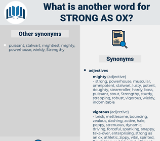strong as ox, synonym strong as ox, another word for strong as ox, words like strong as ox, thesaurus strong as ox