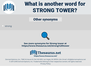 strong tower, synonym strong tower, another word for strong tower, words like strong tower, thesaurus strong tower